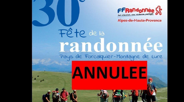ANNULATION....   FFRando 04 :  FETE DE LA RANDO EN PAYS DE FORCALQUIER
