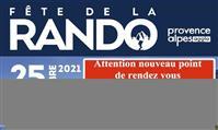MODIFICATION DE RDV pour LA PROCHAINE FETE DE LA RANDONNEE DANS LE PAYS DIGNOIS