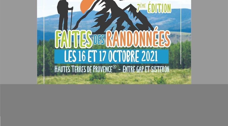 FAITES DES RANDONNEES : 16 & 17 octobre 2021